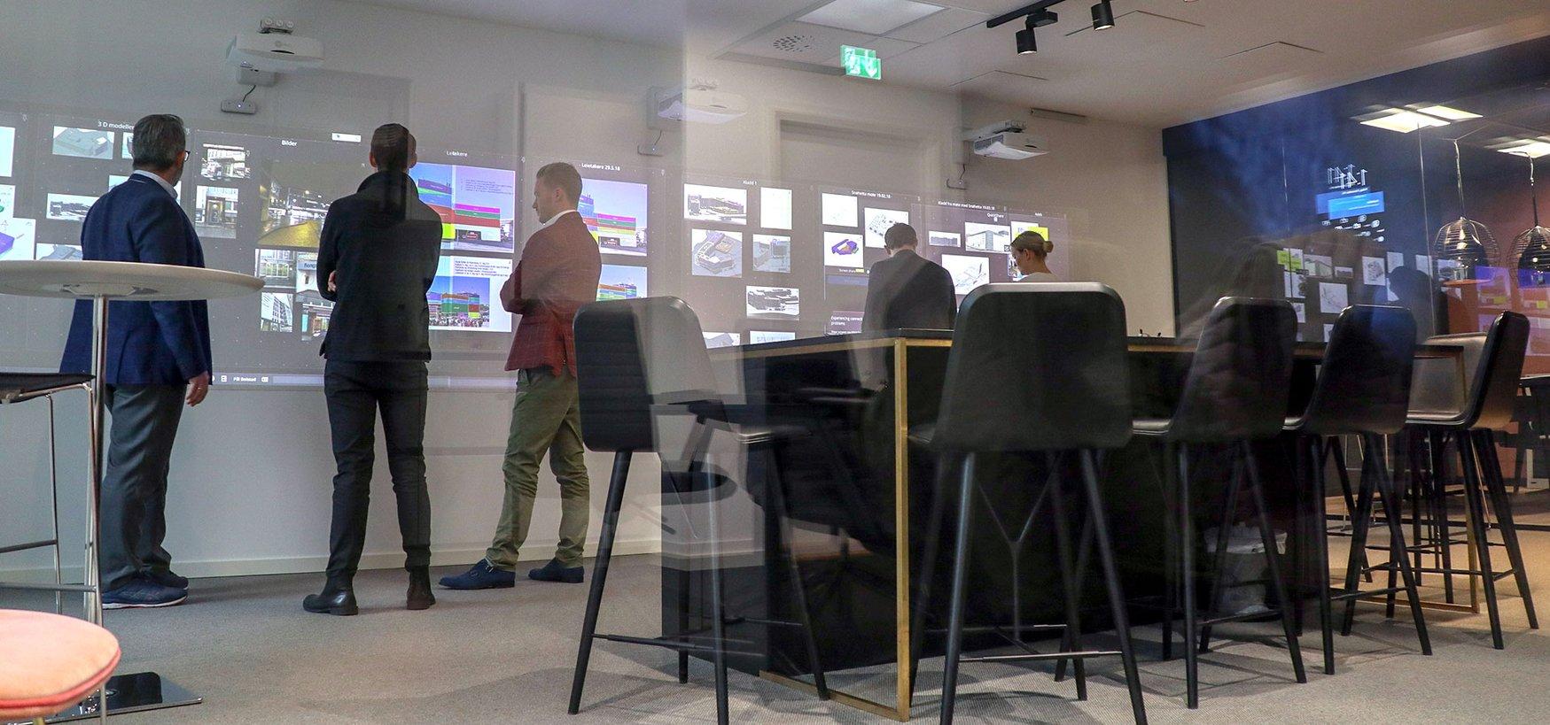 Interaktivt møterom - Nureva interaktiv skjermvegg